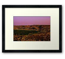 The Burning Hills  Framed Print