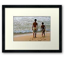 Surf kids Framed Print