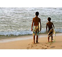 Surf kids Photographic Print