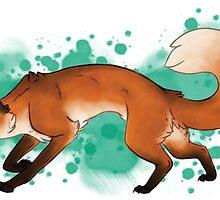 Red Fox Romp [Splatter] by Skeetzybug