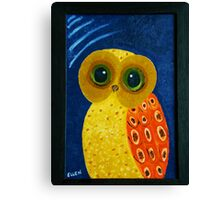 My First Owl Painting Canvas Print