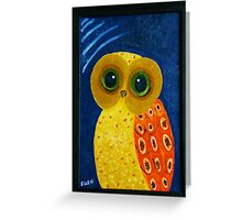 My First Owl Painting Greeting Card