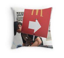 The Mc Donalds Kid Throw Pillow