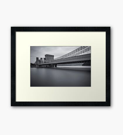 Conwy Suspension Bridge Framed Print