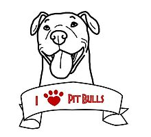 I Love Pit Bulls logo by Savannah Terrell