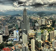 Petronas Towers from the Menora Tower, Kuala Lumpur by Alisdair Gurney