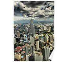 Petronas Towers from the Menora Tower, Kuala Lumpur Poster