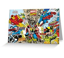 Marvel Comic Greeting Card