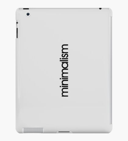 minimalism iPad Case/Skin