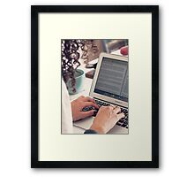 Blogger Framed Print