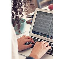Blogger Photographic Print