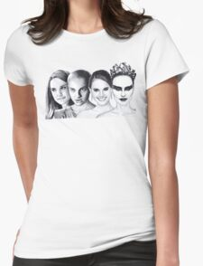 The Many Faces of Natalie Portman Womens Fitted T-Shirt