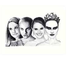 The Many Faces of Natalie Portman Art Print