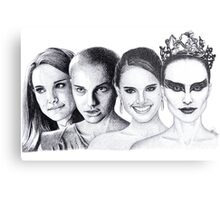 The Many Faces of Natalie Portman Metal Print