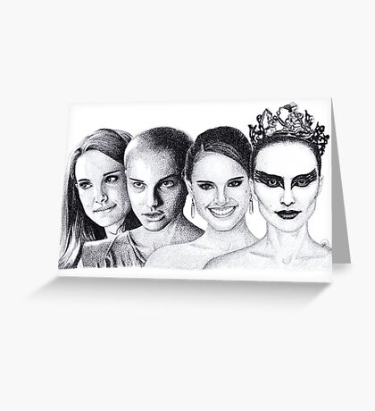 The Many Faces of Natalie Portman Greeting Card