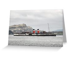 Waverley, in the Firth of Lorne Greeting Card