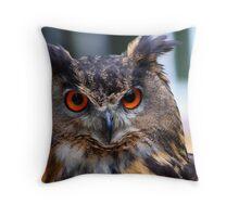 Eurasian Eagle Owl Portrait..... Throw Pillow