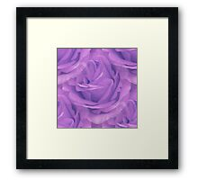 Seamless Purple Rose Vector Framed Print