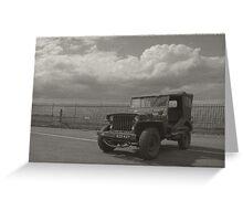 1940's Vintage Jeep Greeting Card