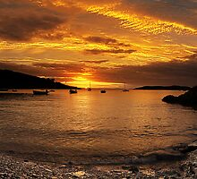 Sunrise from Squince Harbour by Marloag