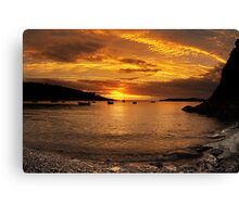 Sunrise from Squince Harbour Canvas Print