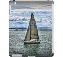Yacht on Waterscape iPad Case/Skin