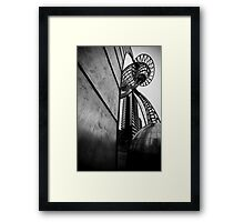 Docklands Sculpture Framed Print
