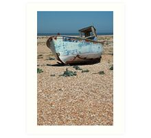 www.lizgarnett.com - Fishing Boat on Dungeness Beach, Kent Art Print