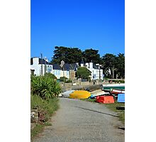 www.lizgarnett.com - Boats at Larmor-Baden, Brittany, France Photographic Print