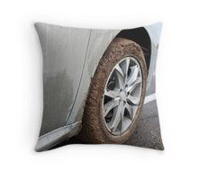 end of the off-road Throw Pillow