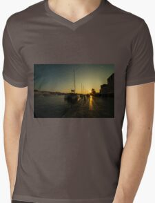 Trogir Sunset  Mens V-Neck T-Shirt
