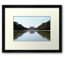 Reflections on Lincoln Memorial Framed Print