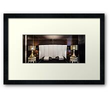 Interior luxury bedroom  Framed Print