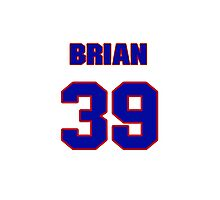 National baseball player Brian Fuentes jersey 39 Photographic Print