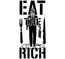EAT THE RICH - on Light Photographic Print