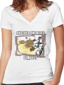 CS:GO - Another one bites de_dust Women's Fitted V-Neck T-Shirt