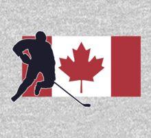 Canada Hockey Team T-Shirt & Sticker One Piece - Short Sleeve