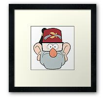 Stan Pines Paper Fez Face Mask Framed Print