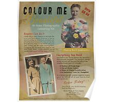 Colour Me Beautiful 1950s Print Ad Poster