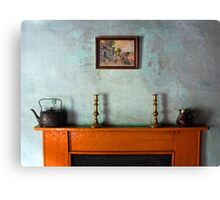 Antique Mantelpiece Still Life Canvas Print