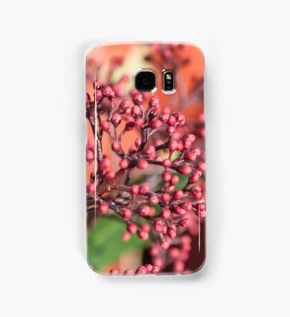 plants in the garden in winter Samsung Galaxy Case/Skin