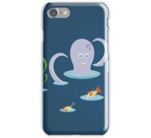 Octopus playing with fish iPhone Case/Skin