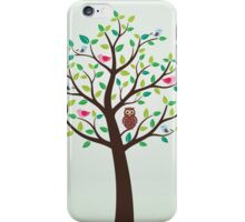Birds And Owl In The Tree iPhone Case/Skin
