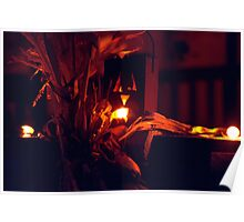 Lighted Halloween Jack-o-Lantern (2) Poster