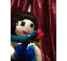 Saskia the Snake Charmer - knitted burlesque doll series Photographic Print