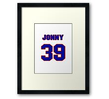 National baseball player Jonny Venters jersey 39 Framed Print