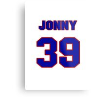 National baseball player Jonny Venters jersey 39 Metal Print