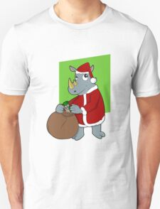 Christmas Rhinoceros  Unisex T-Shirt