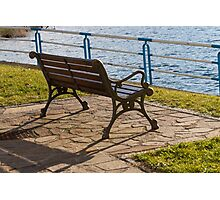 bench on the lake Photographic Print