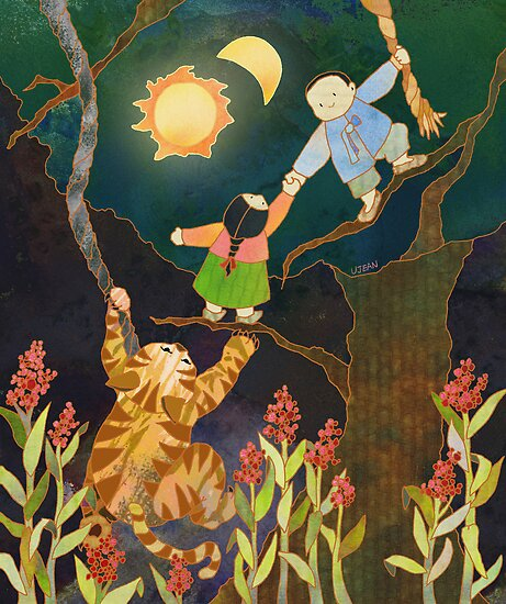 The Sun & Moon: Korean Folk Tale by Ujean1974
